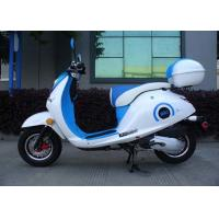 Wholesale White / Blue 50cc Mini Bike Scooter With Two Rear View Mirrors / Rear Box from china suppliers
