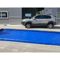 China Flexible Blue Car Wash Mats Water Containment Printing Double - Tripple Stitch on sale