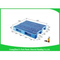 Wholesale Double Sides 4 - Way Stackable Plastic Pallets , Plastic Skids Pallets 1200 X 1000mm from china suppliers