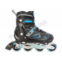 Wholesale Boy Style Semi-Soft Black Inline Hockey Skates 4 PU Wheels Inline Wheel Skate from china suppliers