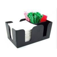 Wholesale Solid Black Acrylic Tissue Box , Acrylic Dining Table Display Holder from china suppliers