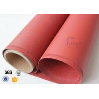 "Wholesale Red Silicone Coated High Silica Fabric 800℃ 0.7mm 37"" Fire Blanket Cloth from china suppliers"