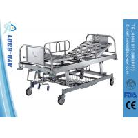 Wholesale Mobile Height Adjustable Stainless Steel Hospital Bed With Diagonal Brake from china suppliers