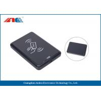 Wholesale 13.56 MHz Desktop Contactless RFID Reader , USB Interface RFID Chip Readers 46g from china suppliers