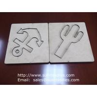 Wholesale Scrapbook steel rule cutting die on MDF board, MDF substrate paper crafts die cutter from china suppliers