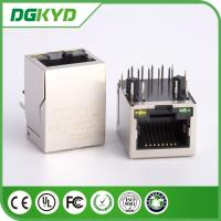Wholesale China factory KRJ-320DNL metal shielded single port gige cat6 rj45 jack with LED from china suppliers