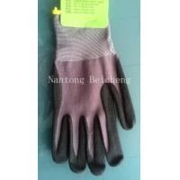 Quality Dot Anti-slip Nitrile Work Gloves 15 Gauge with Nylon Liner Dip Palm for sale
