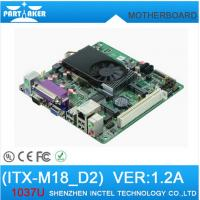 Wholesale Mini Itx industrial motherboard Intel 1037U /DC 12V /Dual 24bit LVDS Motherboards from china suppliers
