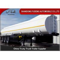 Wholesale Customized Volume Fuel Tank Trailer , Chemical Transport Trailers  Carbon Steel from china suppliers