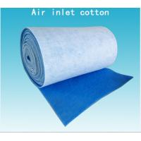 Quality Inlet Cotton Blue White Pre Air Filtration Media Spray Booth Air Filter Roll Material for sale