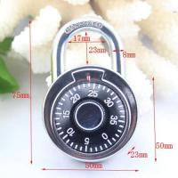 Wholesale 50MM Round Dial combination padlock/compass decorated padlock from china suppliers