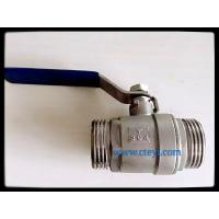 Wholesale Male Thread Stainless Steel Ball Valves Manual Ball Valve Without Lock Hand from china suppliers