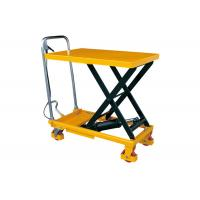 Wholesale Hand Lift Drive Hydraulic Lift Cart , 350kg Rated Load Mobile Scissor Lift from china suppliers