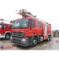 High Spraying Water Fire Truck Benz Chassis With Fully Synchronized Gearbox