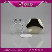 Wholesale J601 plastic acrylic jar with high quality,hexagon shape jar from china suppliers