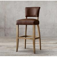 Buy cheap Leather Wooden Upholstered Bar Stools Birch Wood Chairs 48*55*108cm from wholesalers
