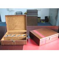 Wholesale Recyclable Leather Cover Wine Packaging Boxes With Metal Locked , Hot Stamping from china suppliers