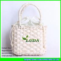 Wholesale LUDA 2016 summer designer straw handbags natural cornhusk straw shopper bag from china suppliers