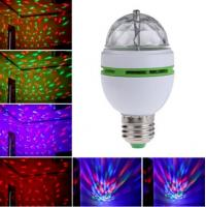 Wholesale 16 Colors Change E27 RGB LED Lamp 3W AC 85-265V 110V 220V Auto Rotating Stage Light DJ Disco Club Party PUB LED Bulb from china suppliers