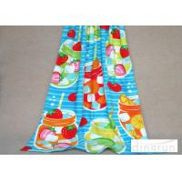 Quality OEM Colored Custom Printed Beach Towels , Promotional Swimming Towels For Kids for sale
