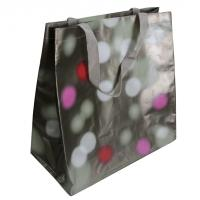Quality Waterpaint Dots PP Woven Reusable Carrier Bags Big Capacity , Nylon Tape Handle for sale