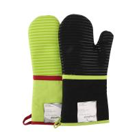 Wholesale Heat Insulating Cotton Mittens Cooking Kitchen Oven Mitts Love Heart Printed Microwave Gloves from china suppliers
