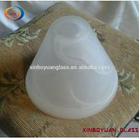 Buy cheap White frosted circular glass shades for light from wholesalers