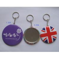 Wholesale Round Tin mirror with keychain, keychain mirror from china suppliers