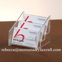 Wholesale 3 Tiers Transparent Acrylic Business Card Holder For Fair and Office from china suppliers