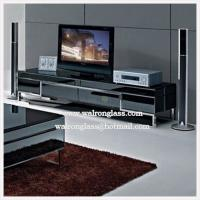 Wholesale Top Quality TV Cabinet/Stand with Black Tempered/Toughened Glass from china suppliers