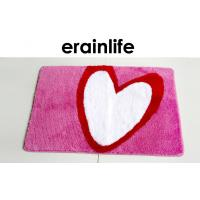 Wholesale Polyester Bathroom Floor Mats Heart Printed design for Shower Room / Toilet from china suppliers