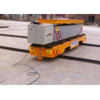 Wholesale SEW gearmotor driven rail transfer vehicle with dumping platform hydraulic lifting from china suppliers