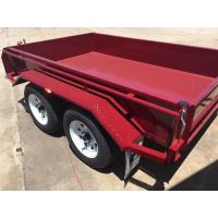 Quality Heavy Duty Industrial 10x5 Tandem Box Trailer 2000KG Wtih Rolled C / Plate Floor for sale
