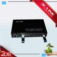 Wholesale 8x SFP Slots + 1 X 10/100/1000 Fiber Media Converter for different 1000M SFP module from china suppliers
