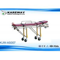 Wholesale Backrest Tilting Emergency Folding Stretcher Trolley Ambulance Stretcher With Two Safe Belts from china suppliers