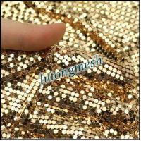 Wholesale Fashion Design Decorative Metal Sequin Fabric,Golden Drapery from china suppliers