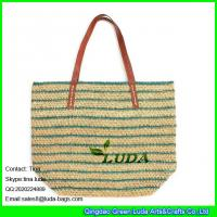 Wholesale LDLF-015 striped raffia bag crochet straw shoulder raffia bag from china suppliers