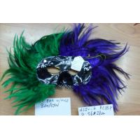 Wholesale Halloween Mluti Color Masquerade Carnival Feather Party Half Face Mask from china suppliers