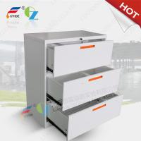 Wholesale Lateral filing cabinet steel material 3 drawer H1030xW900xD452mm,white color from china suppliers