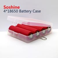 Wholesale Soshine 18650 plastic battery case 4*18650 battery case, high quality 18650 battery case from china suppliers