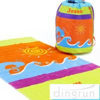 Wholesale Portable Design Sports Team Beach Towels , Lightweight Beach Towels from china suppliers