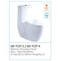 Wholesale White Siphon Flushing Siphonic One Piece Toilet Size:710 * 370 * 660mm  from china suppliers