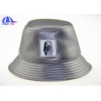 Wholesale Polyester PU Printed Bucket Hats With PU Badge Bucket Fishing Cap for Man from china suppliers
