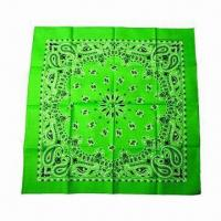 Wholesale Green Bandana, Breathable, Sweat Absorption and Wind-resistant, OEM Orders are Accepted from china suppliers