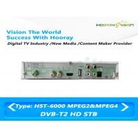 Wholesale DVB T2 Set Top Box HD MPEG4 , Terrestrial STB Set Top Box 1 HDMI Port from china suppliers