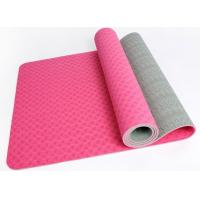 Wholesale 6mm pink colour two layer non-slip TPE yoga mat from china suppliers