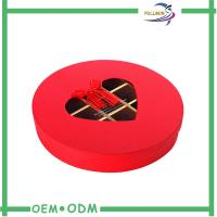 Wholesale Eco - Friendly Red Custom Paperboard Chocolate Gift Packs Round Box ODM / OEM from china suppliers