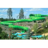 Quality Fiberglass Rainbow Multi Water Slide Large Aqua Water World Customized Height for sale