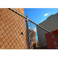 Wholesale diamond razor wire mesh fence pvc coated plastic chain link fence panels for USA market from china suppliers