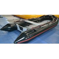 Wholesale Black 3 Layers PVC Inflatable Boat With Aluminum Floor 400 mm from china suppliers